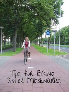 Tips for biking sister missionaries #sistermissionaries #bikes #mission #sistershop #tips #advice #bikingmission #lds #mormon