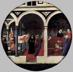 Berlin Tondo (Nativity) (front view) - Masaccio.  1427-28.  Tempera on panel.  56 cm diameter.  Gemaldegalerie, Staatliche Museen zu Berlin, Berlin, Germany.