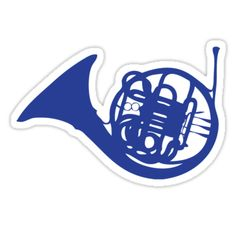 'Blue French Horn' Sticker by Ben Holmes How I Met Your Mother, Printable Stickers, Cute Stickers, Non Plus Ultra, Avengers Art, Snapchat Stickers, French Horn, Himym, I Meet You