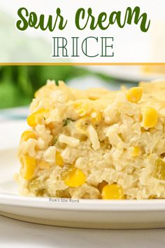 If you're looking for a great flavorful side dish to your meal this week, this Sour Cream Rice is a kid approved recipe.  Easy to whip up, packed with flavor and delicious reheated.  All the things a good rice dish should be! #sidedish #rice #mexicanrice #sourcreamrice #creamyrice #cheesyrice #greenchilies #corn #cincodemayo #mexican #casserole #recipe #numstheword #minuterice #jasminerice #kidapproved Rice Side Dishes, Side Dishes Easy, Vegetable Side Dishes, Food Dishes, Corn Recipes, Side Dish Recipes, Vegetable Recipes, Mexican Food Recipes, Ethnic Recipes