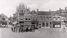 Princenhage Markt met spoor naar Etten en Antwerpen
