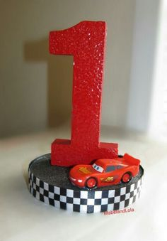 Cars Theme Birthday Party Centerpiece Table Decoration ANY Age Lightning McQueen #Unbranded #BirthdayChild