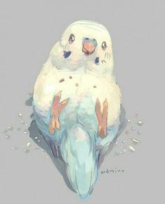 ideas for drawing art designs artworks inspiration - Happy Tiere Cute Animal Drawings, Bird Drawings, Kawaii Drawings, Cute Drawings, Arte Do Kawaii, Kawaii Art, Pretty Art, Cute Art, Art And Illustration