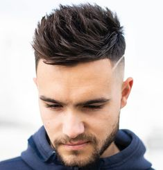 The spiky hairstyles of today are tender,we've prepared some modern ideas of spiked hair, here are the most stylish spiky hair tips for guys. Cool Hairstyles For Men, Trendy Haircuts, Best Short Haircuts, Boy Hairstyles, Mens Spiked Hairstyles, Haircut Short, Haircut Styles, Mens High Fade Haircut, Casual Hairstyles