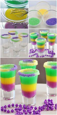 King Cake {Jelly} Shots