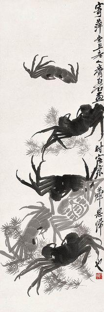 齐白石 群蟹图 by China Online Museum - Chinese Art Galleries, via Flickr