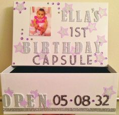 Twinkle Twinkle Little Star First 1st Birthday Time Capsule by NamesNBeyond on Etsy https://www.etsy.com/listing/233334978/twinkle-twinkle-little-star-first-1st