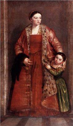 Lievia da Porto Theine with her daughter Porzia by Paolo Veronese