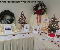 If your auction is around the holidays, having students decorate wreaths, trees, and similar decor can become your class project. School Auction Projects, Class Projects, Art Projects, School Fundraisers, Non Profit, Fundraising, Charity, Students, Trees