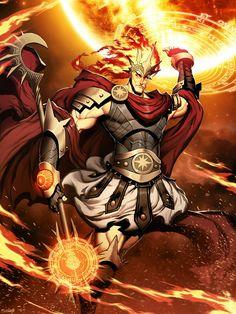 Ifrit Sorcerer - Pathfinder PFRPG DND D&D d20 fantasy