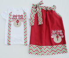 Custom Boutique Christmas Reindeer Pillow Case by Janslittlehearts, $44.95