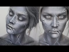 TIMELAPSE TRANSFORMATION: Statue Makeup - Using Mehron Paradise Palettes in Tropical and Basic and Makeup Geek shadows. #Halloween #makeup