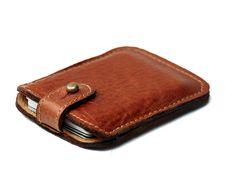 Leather wallet men, Slim leather wallet, brown leather wallet, Credit Card wallet, Business Card Case gift idea for him, men, december gifts...