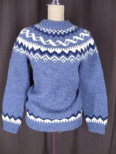 Alafoss Icewool Hand Knit Fair Isle Sweater
