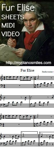 5 easy versions of Fur Elise Easy Sheet Music, Piano Sheet Music, Teaching Music, Teaching Resources, Fur Elise, Beginner Piano Music, Free Piano, Easy 5, Music Theory