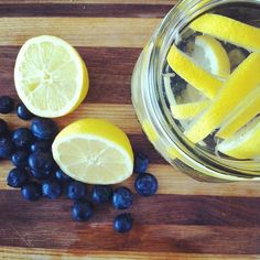 Lemon & blueberry infused detox water.  #lemon #blueberry #detoxwater #detoxifying #hydrating #antiaging #raw #wellness #infusedwater #fruit #cleaneating #cleansing #eatwell #eatclean #fitmom #follow #healthyfoodporn #happyhealthnut #vegan #vegetarian #yum #plantbasedfoodie #superfood #organic #lovelemons