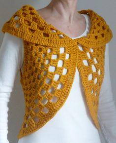 Bolero, Weste – knitting sweaters for beginners Crochet Bolero, Crochet Ripple Blanket, Crochet Vest Pattern, Crochet Shirt, Crochet Jacket, Crochet Poncho, Knit Crochet, Crochet Hats, Baby Girl Crochet