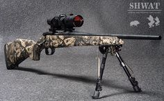 Weatherby Hog Reaper with Aimpoint Hog Hunting, Hunting Rifles, Big Girl Toys, Bolt Action Rifle, Cartwheel, Survival Knife, Guns And Ammo, Archery, Cannon