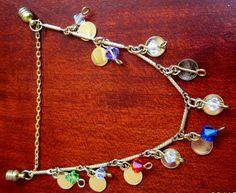 Crystal Gypsy Charm Bracelet. $14.00, via Etsy.