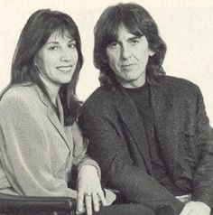 George & Olivia ca. 1990 source: Beatle Wives & Girls Page on Facebook