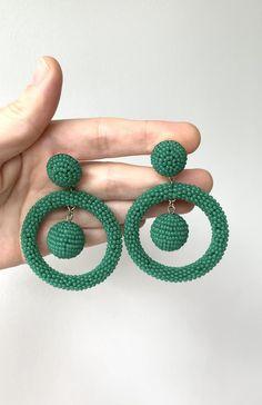 Ear Jewelry, Beaded Jewelry, Statement Earrings, Hoop Earrings, Minimalist Earrings, Feminine Style, Beadwork, Casual Chic, Style Guides
