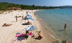 The beach at Pinarello in Corsica.