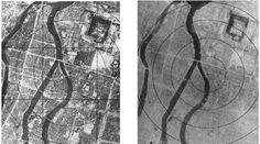 Aerial photos of Hiroshima before and after the dropping of the atomic bomb Rare Historical Photos, Rare Photos, Old Photos, Iconic Photos, Nagasaki, Hiroshima Japan, Fukushima, World History, World War