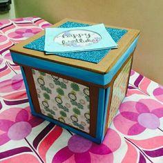 handmade bday explosion box