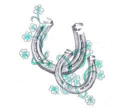 horse shoe tattoo... Cute, I kind of like this one... maybe on my hip