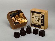 Chess Josef Hartwig 1923 . Ajedrez de la Bauhaus.