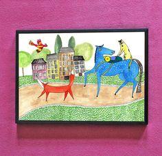 """""""Abenteuer Freunde"""" Illustration/Digitaldruck von Irina Mmurs Things auf DaWanda.com"""