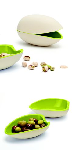 Nut Shell Bowl - half holds the nuts and the other half for the discarded shells.