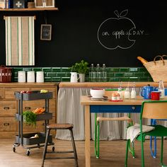 Make a statement in your home with an eye-catching blackboard feature