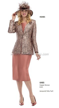 Fall 2014Copper Bronze Sizes 8-24 Sunday Church Suits, Church Attire, Women Church Suits, Church Dresses, Church Outfits, Suits For Women, Ladies Suits, Long Dresses, Womens Dress Suits