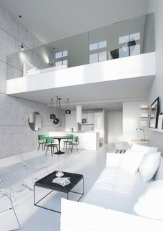 Loft is more and more popular among families due to the hign housing price and limited living space. Loft bedrooms are common to the smaller dwellings. Loft Design, House Design, Design Design, Interior Design Blogs, Nordic Interior, Studio Interior, Loft Furniture, Furniture Ideas, Loft Interiors