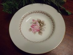 Noritake China, Rosemont Pattern, Dessert Bowl, 5 1/2 inches