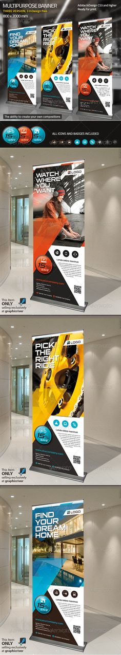 Roll-up Multipurpose - Signage Print Templates