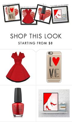 """""""I love you"""" by oldcastlechrista ❤ liked on Polyvore featuring Casetify and OPI"""