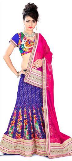 VILLAGE BELLE - BELLO!  #Lehenga #bride #bridalwear #IndianWedding #Onlineshopping #Embroidery #TribalArt