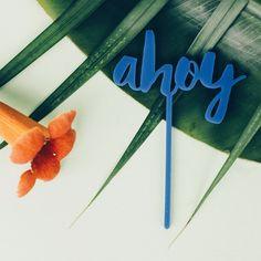 #vscocam #ahoy #ahoj #vscocam #vscopoland #vzcopoland #jungle #caketopper #lasercut #blue #holiday #cake