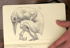 Moleskine Sketchbook #01 by Trevor Henry, via Behance