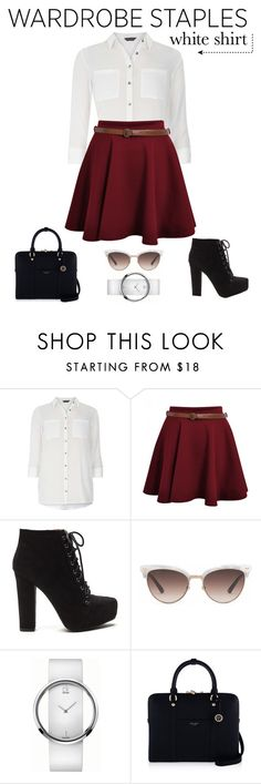 """Wardrobe Staples"" by olive-seidler ❤ liked on Polyvore featuring Dorothy Perkins, Gucci, Calvin Klein, Henri Bendel and WardrobeStaples"