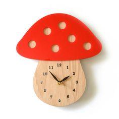 mushroom clock