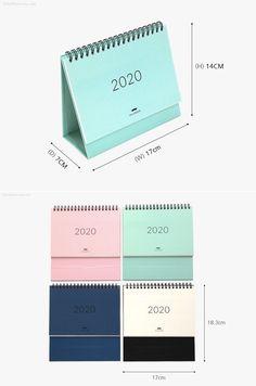 2020 Desk Calendar M / Pink Calendar / Simple Diy Calendar, Calendar 2020, Desk Calendars, Bullet Journal School, Diy School Supplies, Desk Accessories, Masking Tape, Mini Books, Stationery