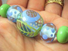 Springtime lampwork / glass focal bead    - SRA Lampwork Beads, Spring Time, Color Schemes, Glass Beads, Handmade, R Color Palette, Hand Made, Colour Schemes, Handarbeit