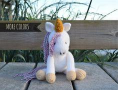 Stuffed Unicorn, Unicorn Doll, Unicorn Plush, Kid Toy, Hand Knit Toy, Knit Stuffed Animal, Baby Girl Toy, Soft Toy, Custom Toy, Unicorn Pony by Knitneys on Etsy https://www.etsy.com/listing/280111346/stuffed-unicorn-unicorn-doll-unicorn