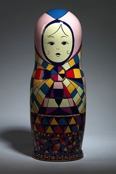 Top designers dress Russian dolls for Russian Vogue's 10th Anniversary. Designed by Emilio Puccini.
