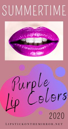 Find the Top 10 Purple Lip Colors for this Summer that you need now. Purple lipsticks are the unsung heroes of lipsticks because of the immense selection of colors, hues, and shades that is derived from the lovely purple color. #purplelipcolors #purplelipsticks #purplelips #lips #purple