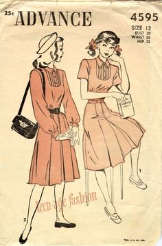 1940s teen fashion... love these dresses! wish i could sew!