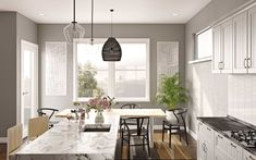 Browse kitchen designs and interior decorating ideas. Discover beautiful designs and inspiration from a variety of kitchen designed by Havenly's talented online interior designers. Interior Decorating, Decorating Ideas, Interior Design, Minimal Kitchen Design, Kitchen Designs, Minimalism, Designers, Dining Room, Modern